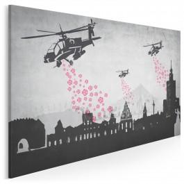 Sen o Warszawie - nowoczesny obraz na płótnie - 120x80 cm