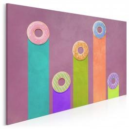 Donut worry be happy - nowoczesny obraz na płótnie