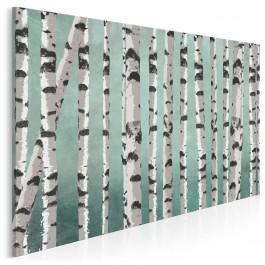 Brzozowy labirynt - nowoczesny obraz na płótnie - 120x80 cm