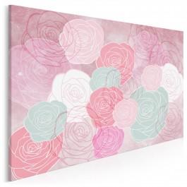 Ogrody różane - nowoczesny obraz na płótnie - 120x80 cm