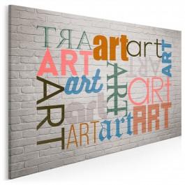 Sztuka erudycji - nowoczesny obraz na płótnie - 120x80 cm