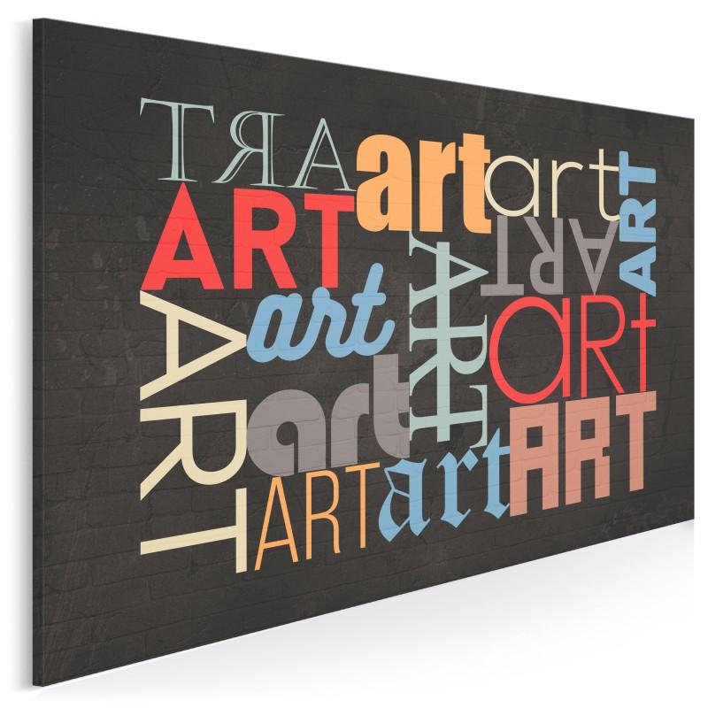 Sztuka wyrazu - nowoczesny obraz na płótnie - 120x80 cm