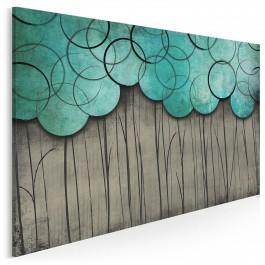 Pół na pół - nowoczesny obraz na płótnie - 120x80 cm