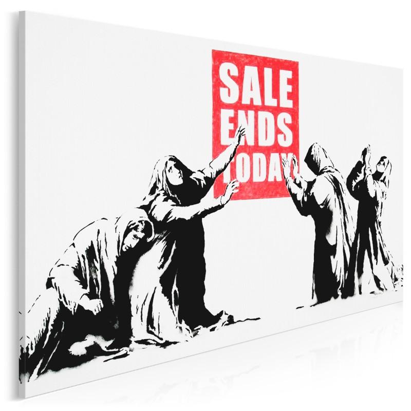 Banksy - Sale ends today - nowoczesny obraz na płótnie - 120x80 cm