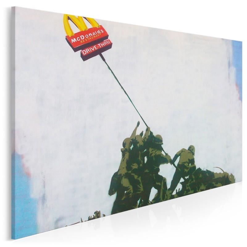 Banksy - Flaga McDonalds - nowoczesny obraz na płótnie - 120x80 cm