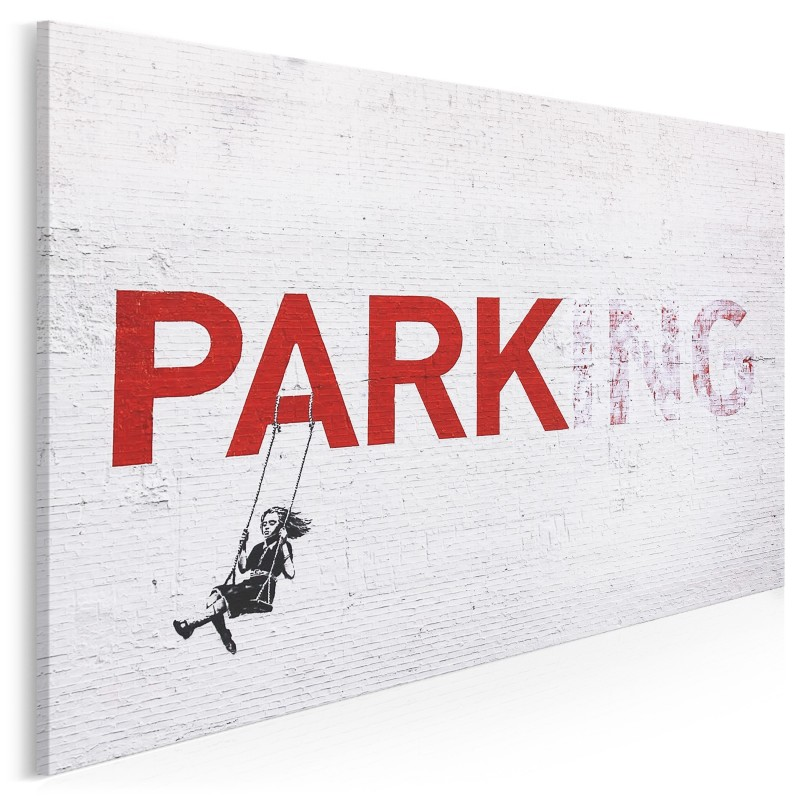 Banksy - Parking - nowoczesny obraz na płótnie