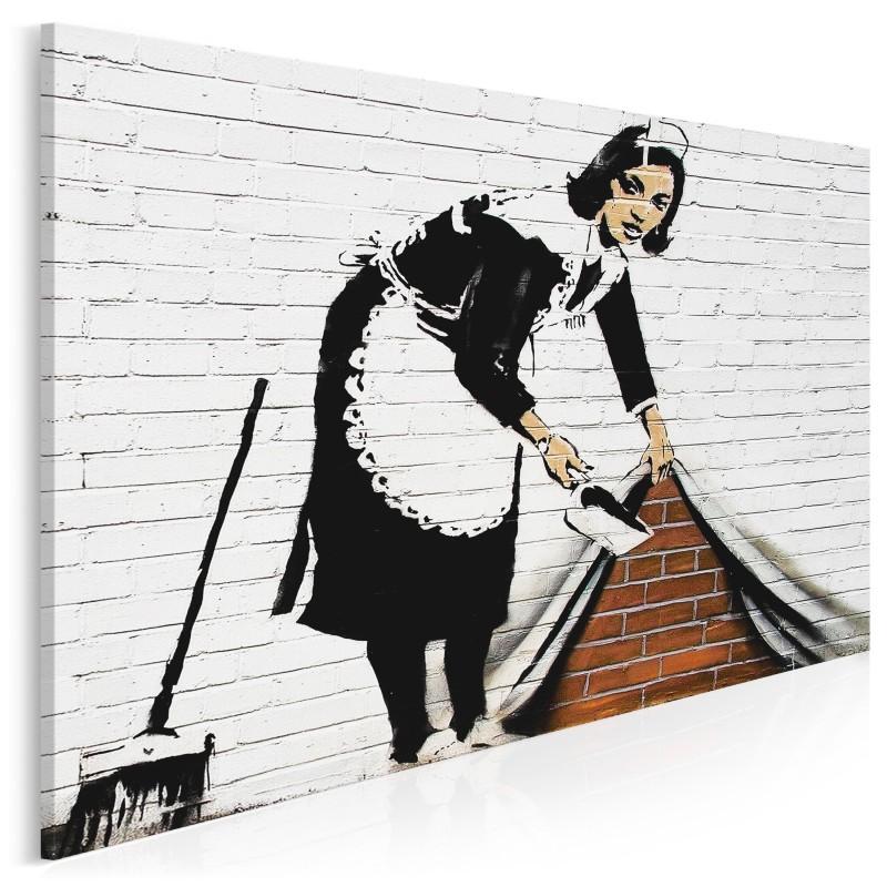 Banksy - Pokojówka - nowoczesny obraz na płótnie - 120x80 cm
