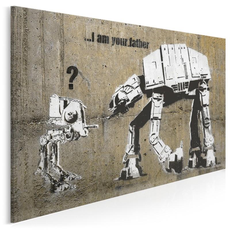Banksy - Star wars - nowoczesny obraz na płótnie - 120x80 cm