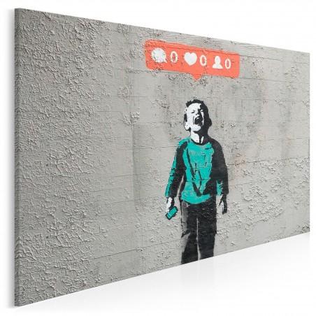 Banksy - Social media - nowoczesny obraz na płótnie - 120x80 cm