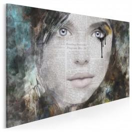 Portret słów - nowoczesny obraz na płótnie - 120x80 cm