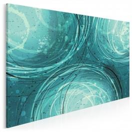 Lazur oceanu - nowoczesny obraz na płótnie - 120x80 cm
