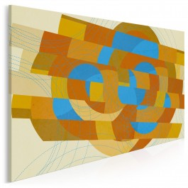 Krąg ognia - nowoczesny obraz na płótnie - 120x80 cm