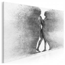 Metafizyka miłości w szarościach - nowoczesny obraz na płótnie