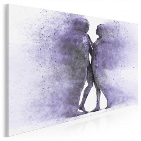 Metafizyka miłości we fioletach - nowoczesny obraz na płótnie - 120x80 cm