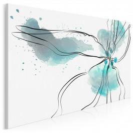 Kwiat oceanu - nowoczesny obraz na płótnie - 120x80 cm