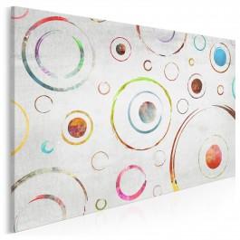 Synergia orbit - nowoczesny obraz na płótnie - 120x80 cm