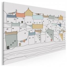 Zamki na piasku - nowoczesny obraz na płótnie - 120x80 cm
