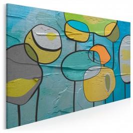 Bańki mydlane - nowoczesny obraz na płótnie - 120x80 cm