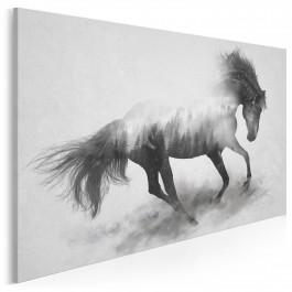 Majestatyczny galop - nowoczesny obraz na płótnie - 120x80 cm