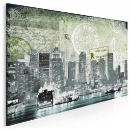 Pocztówka z Nowego Jorku - nowoczesny obraz na płótnie
