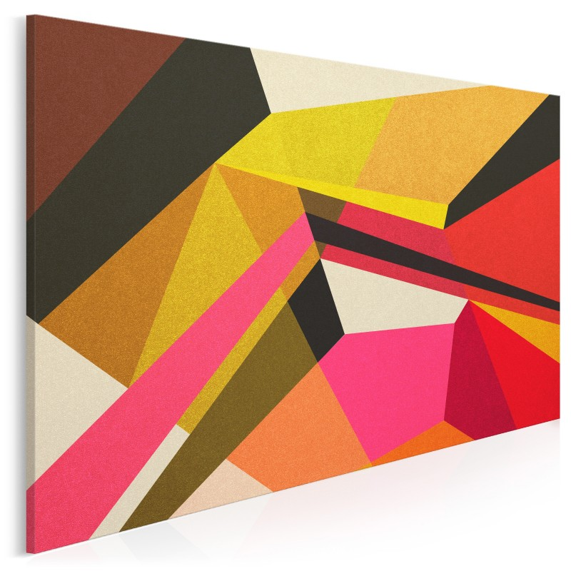 Zakrzywienie czasoprzestrzeni - nowoczesny obraz na płótnie - 120x80 cm