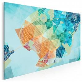 Topografia doznań - nowoczesny obraz na płótnie - 120x80 cm