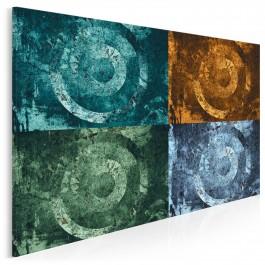 Cztery żywioły - nowoczesny obraz do salonu - 120x80 cm