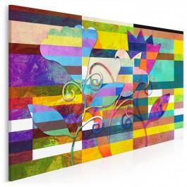 Kurtuazyjne damy - nowoczesny obraz na płótnie - 120x80 cm