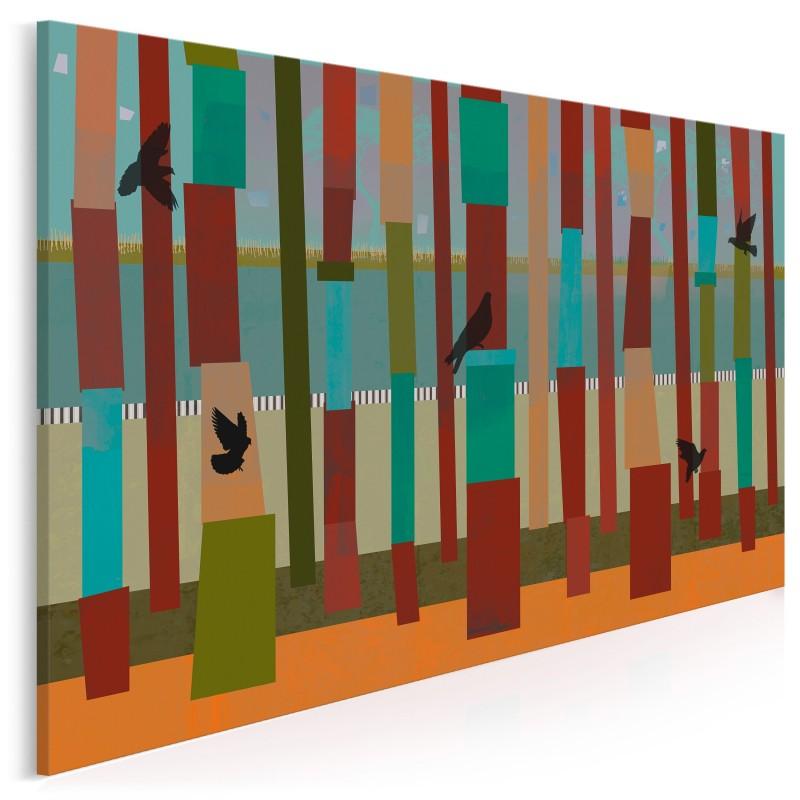 Barwna woliera - nowoczesny obraz na płótnie