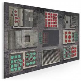 Płaszczyzna świadomości - nowoczesny obraz na płótnie - 120x80 cm