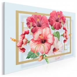 Kwiecista harmonia - nowoczesny obraz na płótnie - 120x80 cm