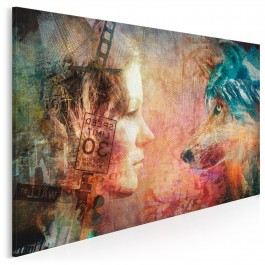 Wilcza natura - nowoczesny obraz na płótnie - 120x80 cm