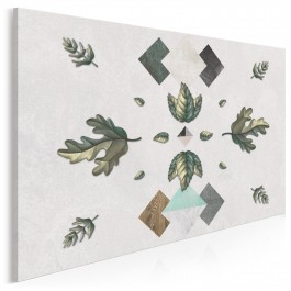 Dębowe listowie - nowoczesny obraz na płótnie