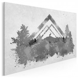 Myśliwskie misterium - nowoczesny obraz na płótnie - 120x80 cm