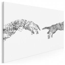 Dotyk nieba - nowoczesny obraz na płótnie - 120x80 cm