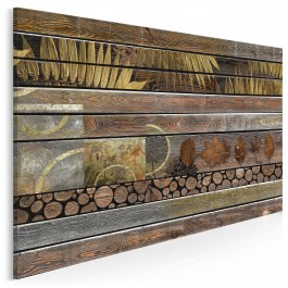 Nostalgiczna sonata - nowoczesny obraz do salonu - 120x80 cm