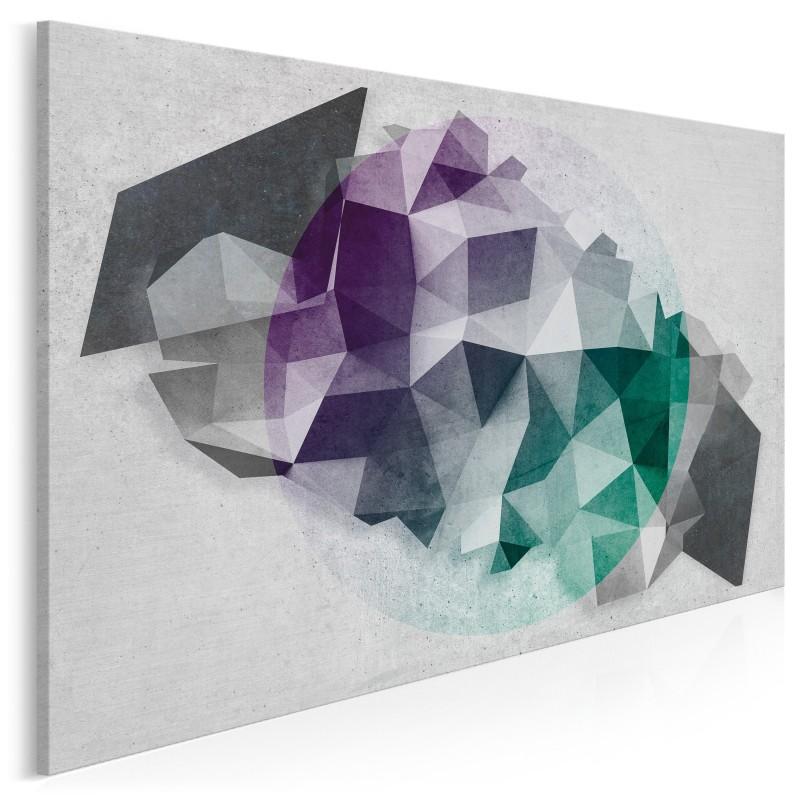 Kwadratura koła - nowoczesny obraz na płótnie - 120x80 cm