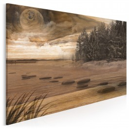 Długowieczny las - nowoczesny obraz na płótnie - 120x80 cm