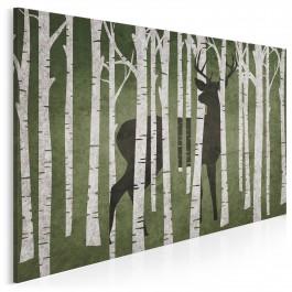Leśny stróż - nowoczesny obraz do sypialni