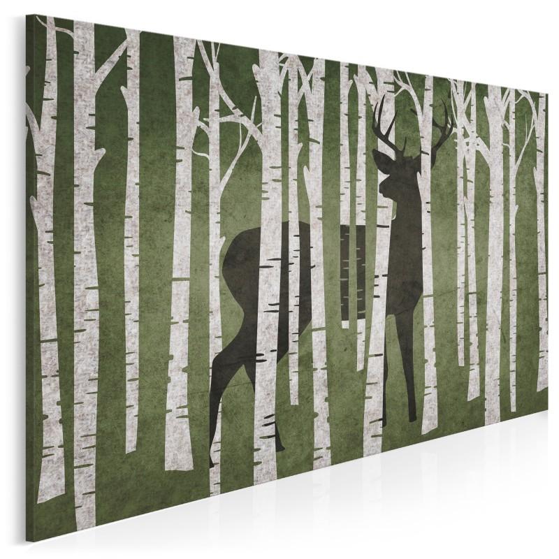 Leśny stróż - nowoczesny obraz do sypialni - 120x80 cm