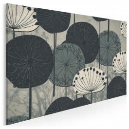 Eufloria w szarościach - nowoczesny obraz na płótnie - 120x80 cm