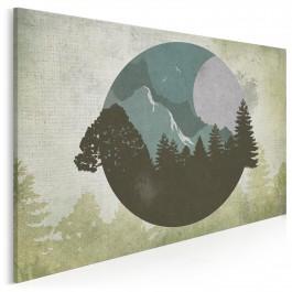 Kropla leśnego tchnienia - nowoczesny obraz na płótnie - 120x80 cm