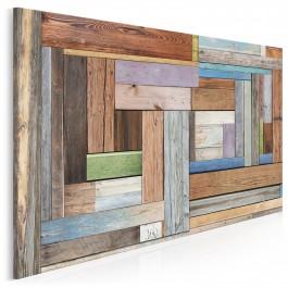 Dawnych podłóg czar - nowoczesny obraz na płótnie - 120x80 cm