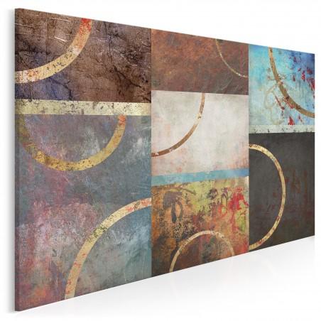 W kręgu emocji - nowoczesny obraz do salonu - 120x80 cm