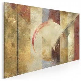 Brązy czasu - nowoczesny obraz na płótnie - 120x80 cm