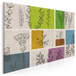Jesienny zielnik - nowoczesny obraz do salonu - 120x80 cm