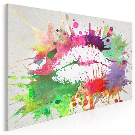 Zastrzyk endorfin - nowoczesny obraz na płótnie - 120x80 cm