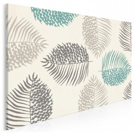 Fuzja natury - nowoczesny obraz do salonu - 120x80 cm