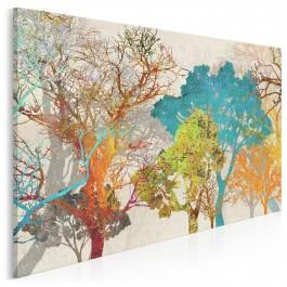 Energia barw - nowoczesny obraz na płótnie - 120x80 cm