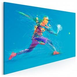 Gem set mecz - nowoczesny obraz na płótnie - 120x80 cm